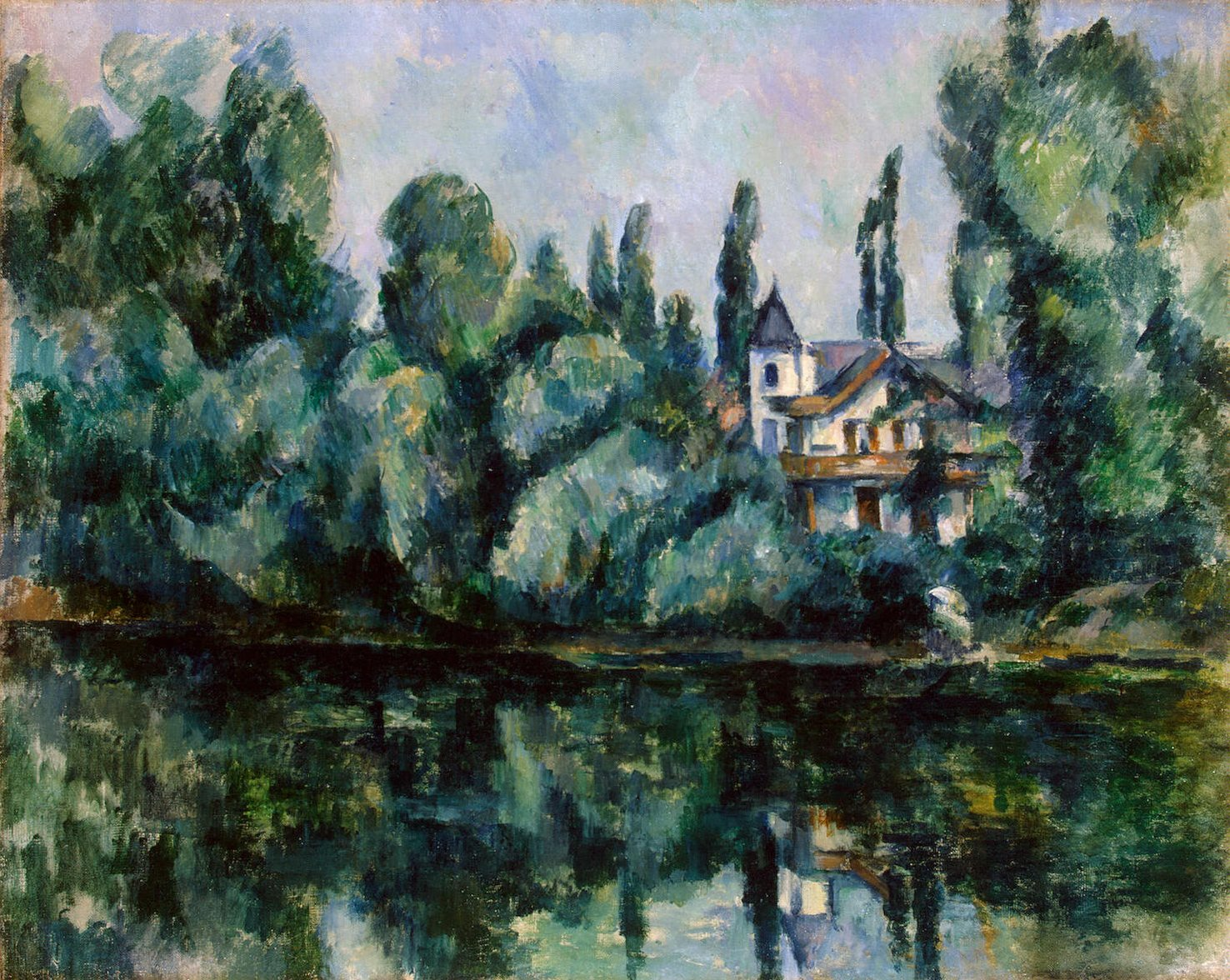 Banks of the Marne, by Cézanne