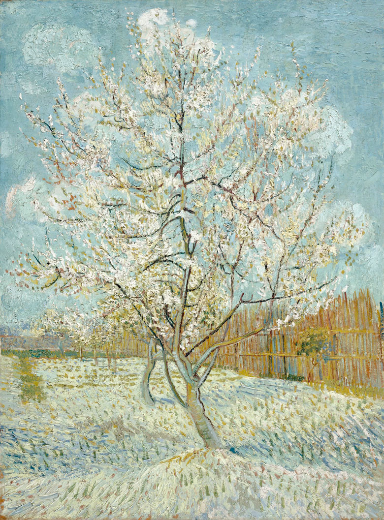 Van Gogh's Blossoming Orchard Triptych