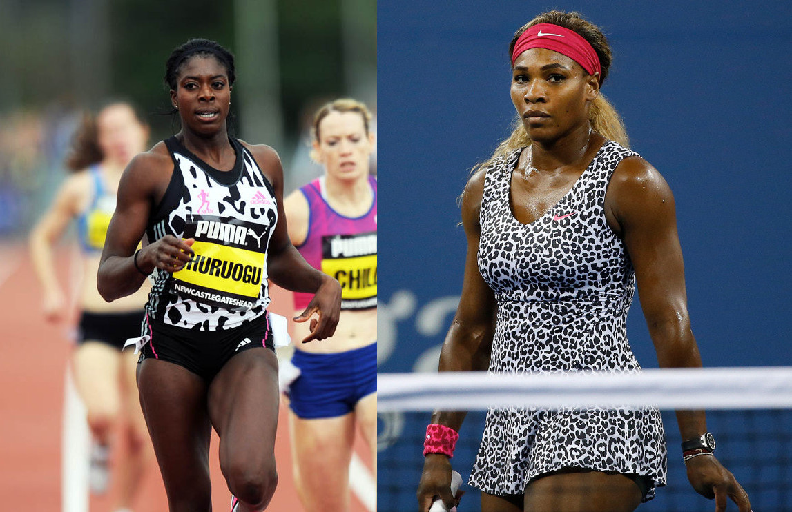 Who Wore It Best: Christine Ohuruogu vs. Serena Williams